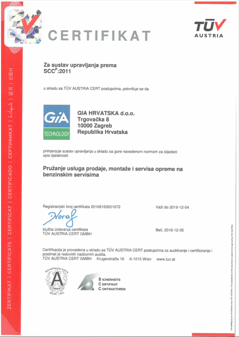 GIA Certificate TÜV english